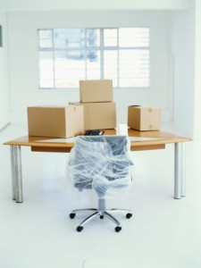 office chair in wrap